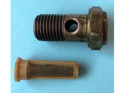 Болт пустотелый М14 с фильтр-сеткой (штуцер топливный) H HOWO (ХОВО) 90003962612 фото 1 Брянск